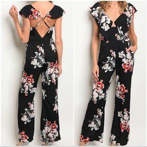 Pants - Floral Jumpsuit